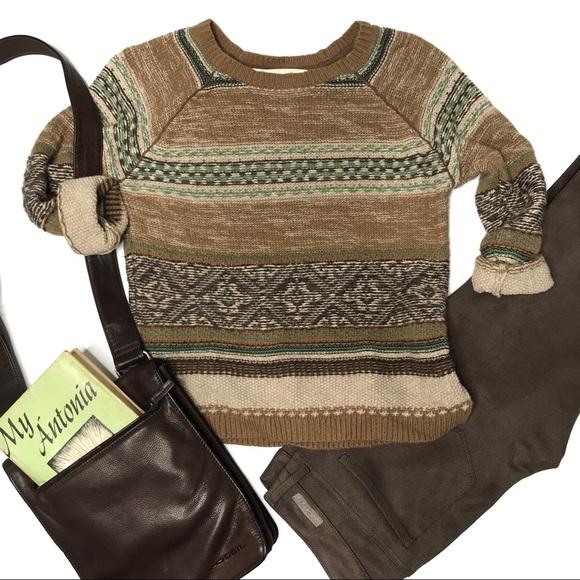 137d9fa4 Zara Sweaters | Inside Out Fair Isle Pattern Sweater | Poshmark